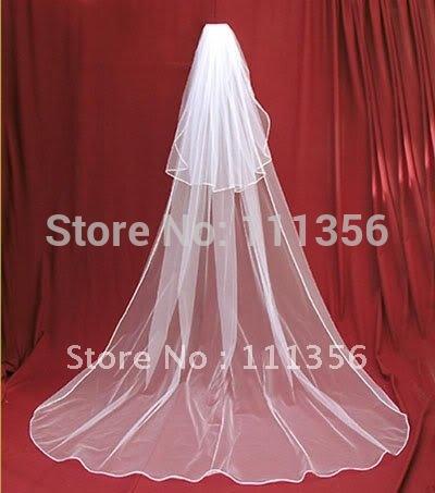 Bridal veil bow wedding accessories veil wedding dress supplies baihuo