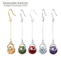Neoglory MADE WITH SWAROVSKI ELEMENTS crystal Jewelry  necklace water drop pendant jewelry wholesale Female statement  Chrsitmas