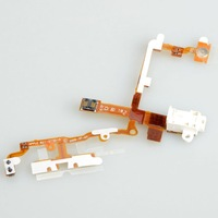White Headphone Audio Jack Ribbon Flex Cable For iPhone 3GS D0068
