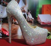 Туфли на высоком каблуке 14CM wedding heels womens high heel shoes prom platform shoes genuine leather