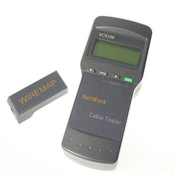 SC8108 Network LAN Phone Cable Tester Meter Cat5 RJ45