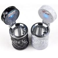 $15 off per $150 order Dazzle car cabinet ,LED diamond cut ashtray, solar energy lamp in-car creative ashtray