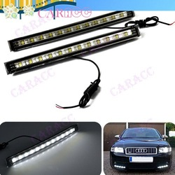 Drop Shipping White 5W SMD 12 LED 2xCar Daytime Running Day Driving Light Fog Lamp 12V DRL 4615(China (Mainland))