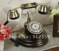 European style wooden antique decorative telephone