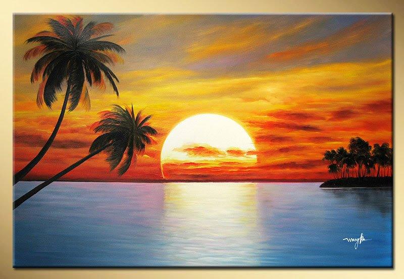 Beach and palm tree painting price beach and palm tree painting price