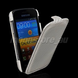 CARBON FIBRE FLIP HARD BACK CASE COVER FOR SAMSUNG GALAXY MINI 2 S6500 FREE SHIPPING(China (Mainland))