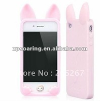 new rabbit silicon case back cover for iphone 4S 4G
