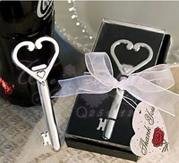 Free shipping Alloy heart bottle opener, wine stopper, wedding favor gift wholesale