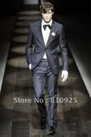 custom made suit for modern style man,top quarity design made black suit for wedding/dinner