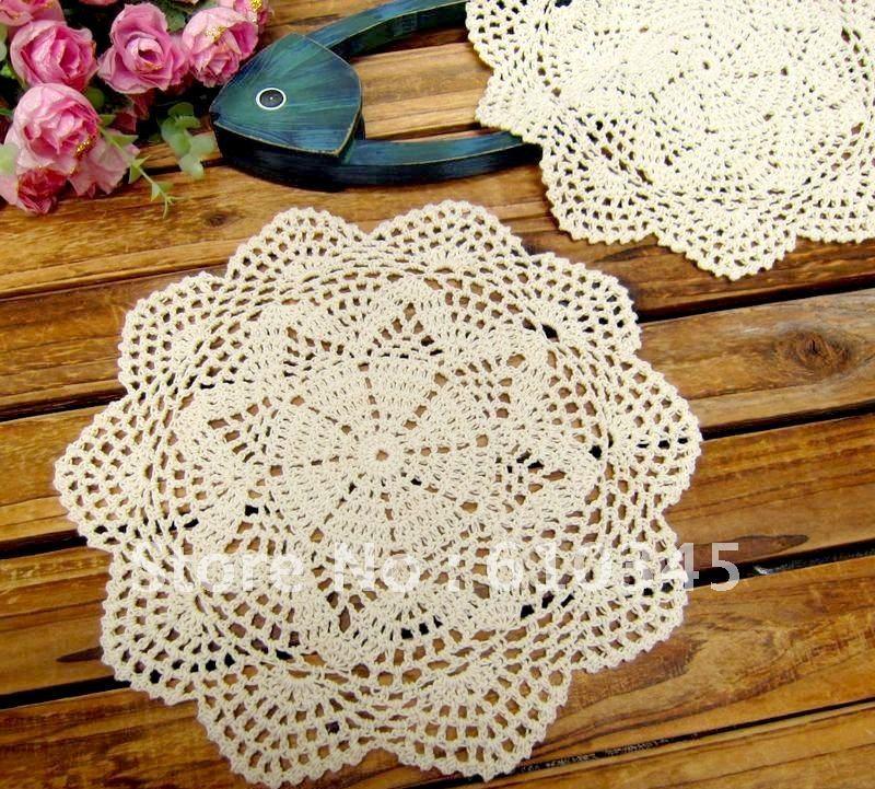 Free shipping wholesale hand made crochet table mat 100 - Set de table crochet ...
