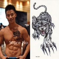 water and sweat proof tatoos stickers with animal shape-Tiger/easy for use and easy for cleanning-fans articles