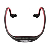 Wholesale Stylish Sport Headphone Mp3 Player Support Max 8GB TF Card Black + Red