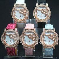 Free shipping 3PCS/Lot Free shipping Wholesale Fashion Cute Lovely wrist Hello kitty watch 915