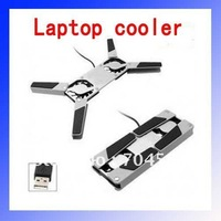 Fold and portable USB Laptop Cooler Notebook Cooling pad stand with 2 fans - FREE SHIPPING