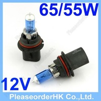 2pcs 9007 HB5 Car Headlight Bulb Super White DC 12V 65/55W 6000K Replacement Free Shipping