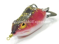 Fishing Lure Topwater Frog Hollow Body Soft Bait Fresh Water Deep Water Bass Walleye Crappie Minnow Fishing Tackle FG8F3