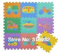 WM018 Baby Floor Mat Children's Environmental Tasteless Eva Foam Mat , pattern: Vehicle, 9pcs/pack