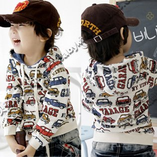 2013 spring  new car models male and female children's clothing children's clothing baby hooded sweater coat
