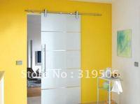 Free Shipping Modern Stainless Steel BARN DOOR HARDWARE for Glass Door