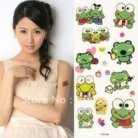 water and sweat proof rub-on transfer tatoo stickers/Price Frog shape easy for use and easy for cleanning-fans articles