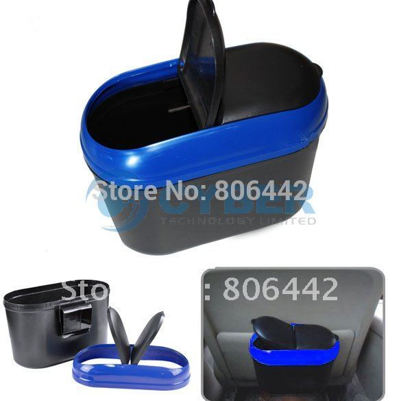 Free Shipping Car Auto Mini Trash Rubbish Can Car Garbage Dust Box Holder Bin(China (Mainland))