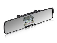 "3.5"" TFT Bluetooth car kit rearview mirror with wireless back-up camera +FM+phonebook+earphone"