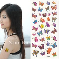 YMX068 5 pcs/lot free shipping rub-on transfer colorful painting tatoo sticker butterfly easy for cleanning-fans articles