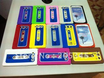 Cassete tape silicon case for Samsung S3