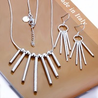 Free Shipping Wholesale 925 Sterling silver plated copper.New Arrival Necklace&Earring NE159