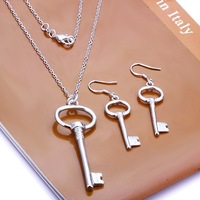 Free Shipping Wholesale 925 Sterling silver plated copper.New Arrival Necklace&Earring NE191