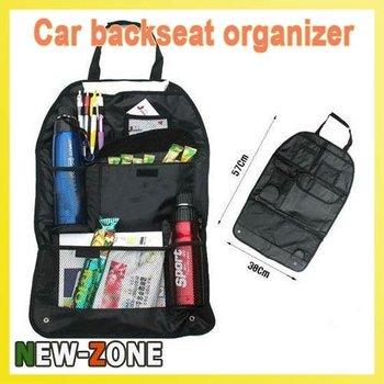 Free Shipping 2pcs/lot Car Auto Back Seat Hanging Organizer Collector Storage Multi-Pocket arrangement Bag