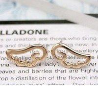 Min.order is $5 (mix order)Free Shipping,Fashion Elegant Earrings,Hollow Angel Wings Cute Earrings Gold, (E173)