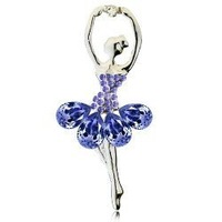 D006 Party necessary money elegant ballet dancing girls brooch-hid beauty Mixed colors Free shipping