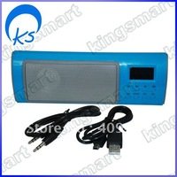3D sound technology with 1.0 channel mini speaker system Blue 80262