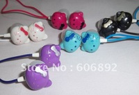 NEW Hello Kitty Fashion Earphones Headphones Headset for mp3 phone 50pieces/lot Fastest Shipping+dropping shipping