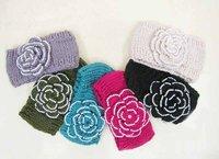 Pearl  flower Handmade headband  Knit Headwrap crochet Headbands headwear