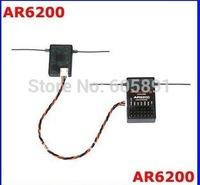 AR6200 2.4G 6Ch Receiver for DX6i JR DX7 DSM2 Receiver 5pcs/lot