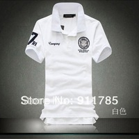 2014 new summer fashion short-sleeved  POLO mens shirts, casual  POLO shirts men, freeshipping by China Post Air Mail,S-5XL,