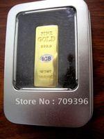 usb gift , golden bar usb, golden color metal usb flash with retail metal box, 2gb,4gb,8gb,16gb,32gb,free shipping