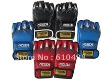 mma Judo muay thai wushu fighting half -finger training sandbag glove black/blue/red free shipping