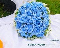 Искусственные цветы для дома Champagne wedding Artificial Flower Silk Rose Bouquet 21CM FL026