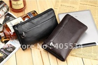 Men's Genuine Leather Business Briefcase Clutch Bag Handbag Case YL6075-1