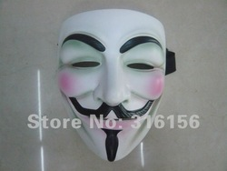 For colection!V vendetta team guy fawkes masquerade park Halloween carnival Mask,resin,19.6*17*10cm,1pc/lot CPAM free shipping(China (Mainland))