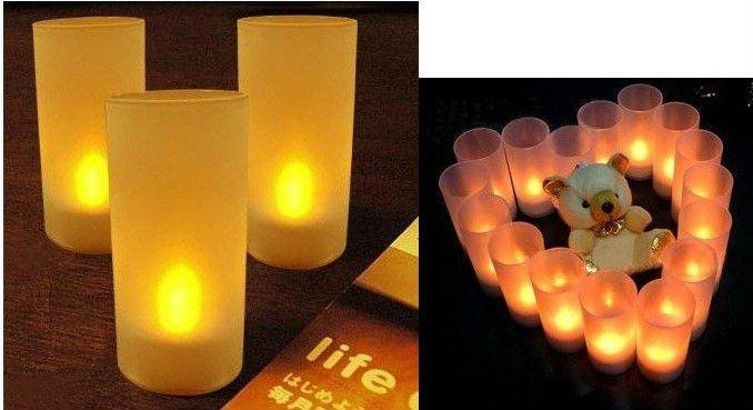 Freeshipping 40pcs/lot Button Battery led candle light Electronic candle with frosted holder manufacturer selling led candle(China (Mainland))