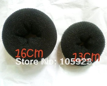 free shipping volumising hair bun donut 13cm updo styler hair accessory for hijab shaping 10pcs/lot