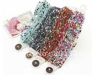 Wholesale Free ship  exquisite bracelet beads /  rice bead bracelets / fashion beans bracelets