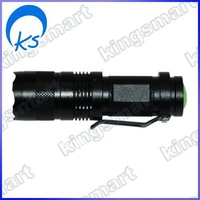 LED Flashlight blackfor climbing, biking, camping 1*AAA 80341