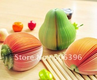 Free Shipping Creative Cute fruit shaped memo pad notepad note book desk decoration G91