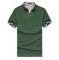 [CPA Free Shipping] Wholesale New Mens 100% Cotton Fashion Slim Summer Casual T shirt Short Sleeve Polo Shirt 6pcs/lot (SU-64)