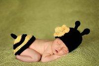 baby crochet diaper headband sets suits
